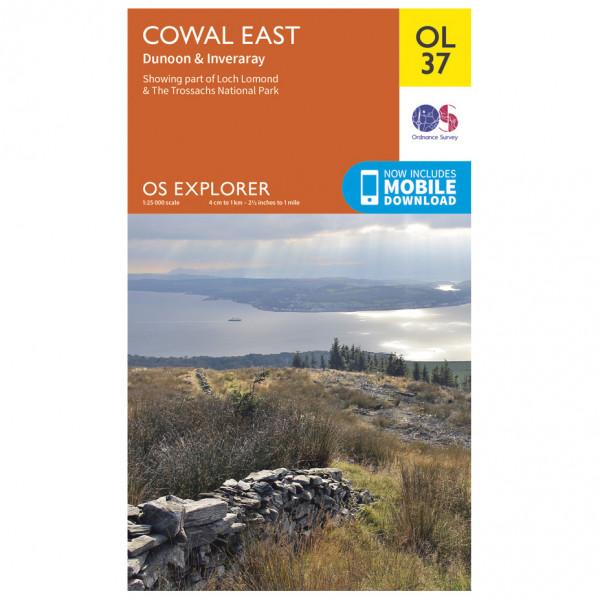 Ordnance Survey - Cowal East / Dunoon / Iverary Outdoor - Vandrekort