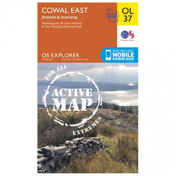 Ordnance Survey - Cowal East / Dunoon / Iverary Waterproof - Hiking map