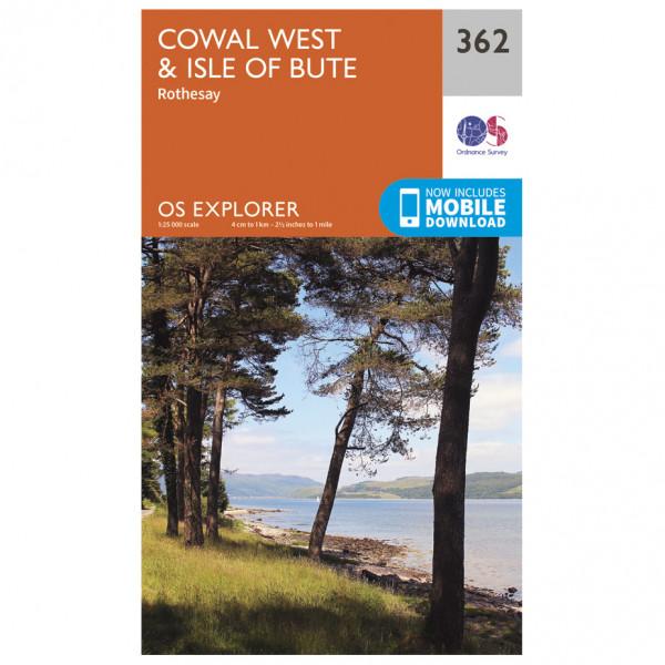 Ordnance Survey - Cowal West / Isle Of Bute - Mapa de senderos