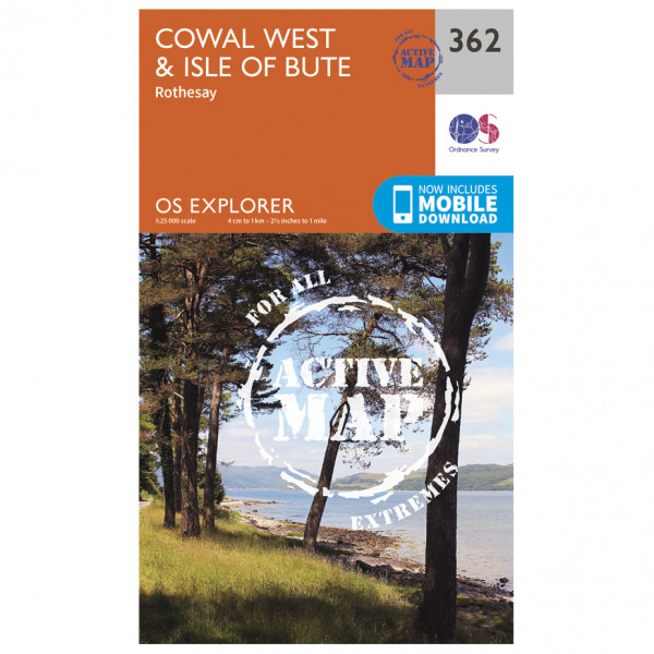 Ordnance Survey - Cowal West / Isle Of Bute Waterproof - Vaelluskartat
