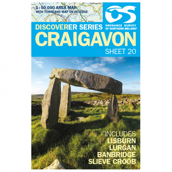 Ordnance Survey - Craigavon - Vandrekort