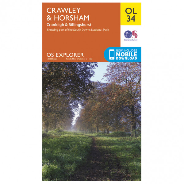 Ordnance Survey - Crawley / Horsham / Cranleigh / Billinghurst Outdoor - Vaelluskartat