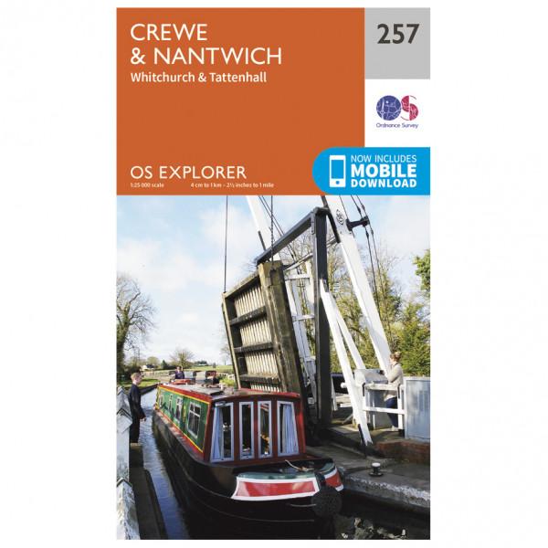 Ordnance Survey - Crewe / Nantwich - Vaelluskartat