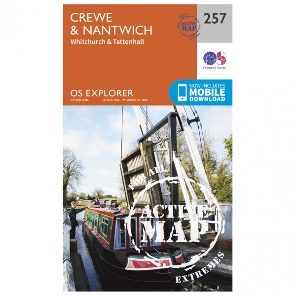 Ordnance Survey - Crewe / Nantwich / Whitchurch / Tattenhall Waterproof EXPL257 - Wanderkarte