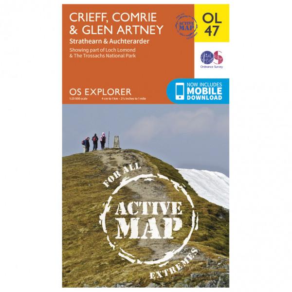 Ordnance Survey - Crieff / Comrie / Glen Artney Waterproof - Mapa de senderos