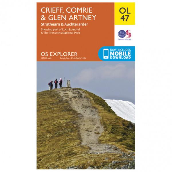Ordnance Survey - Crieff, Comrie & Glen Artney Outdoor - Vandrekort