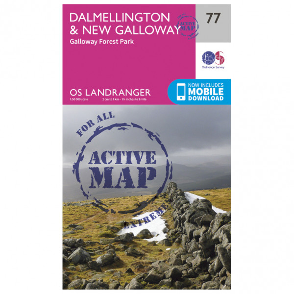 Ordnance Survey - Dalmellington / New Galloway Waterproof - Vaelluskartat