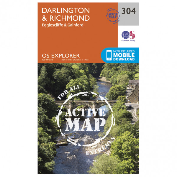 Ordnance Survey - Darlington / Richmond Waterproof - Vandrekort