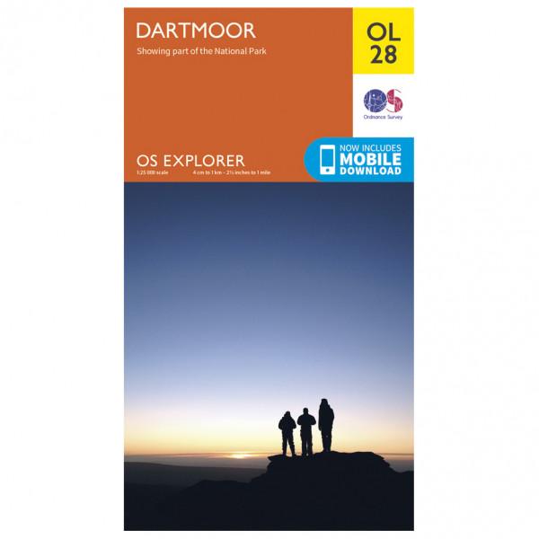 Ordnance Survey - Dartmoor Outdoor - Hiking map