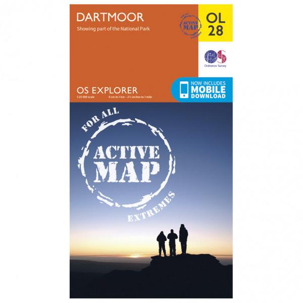 Ordnance Survey - Dartmoor Waterproof - Hiking map