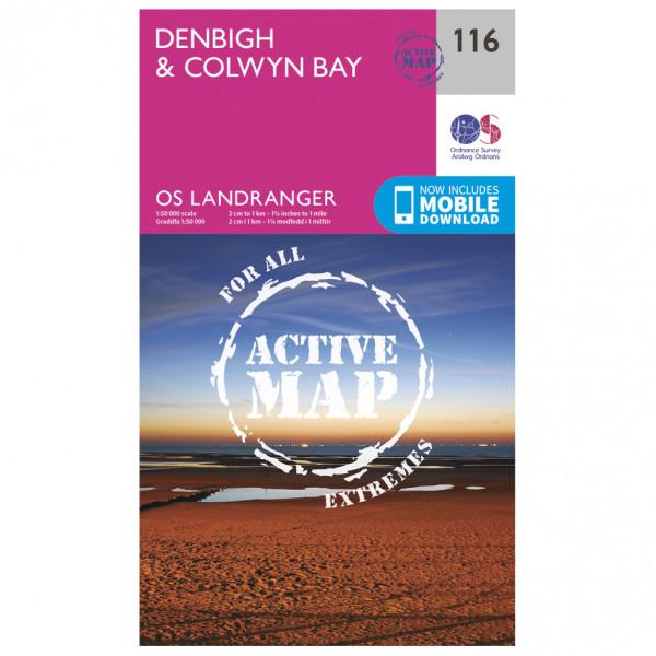 Ordnance Survey - Denbigh / Colwyn Bay Waterproof LA116 - Wanderkarte