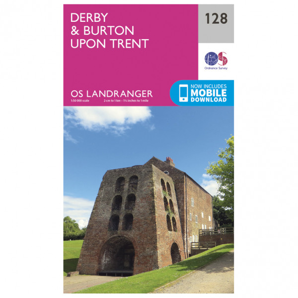 Ordnance Survey - Derby / Burton Upon Trent - Vandrekort