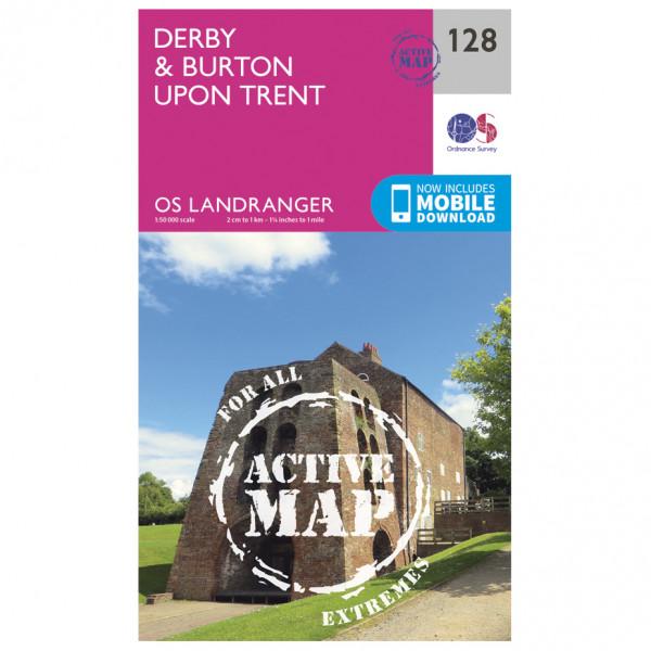 Ordnance Survey - Derby / Burton Upon Trent Waterproof - Wandelkaarten
