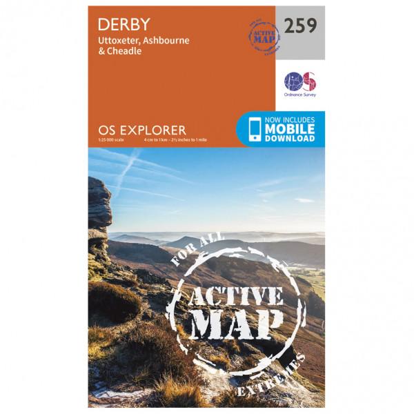 Ordnance Survey - Derby Waterproof - Vandringskartor