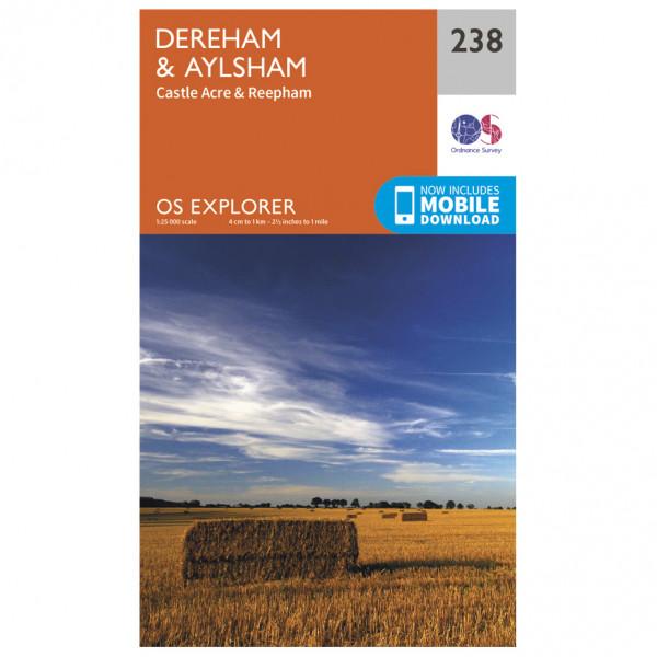 Ordnance Survey - Dereham / Aylesham / Castle Acre / Reepham - Hiking map