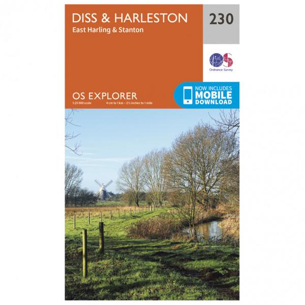 Ordnance Survey - Diss / Harleston / East Harling / Stanton - Vaelluskartat