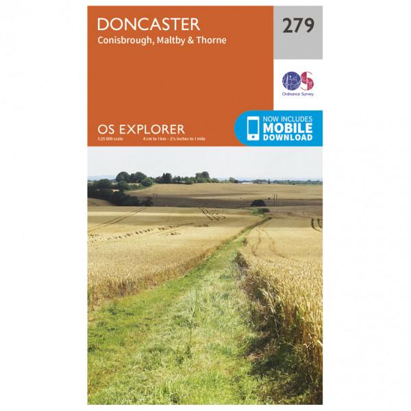 Ordnance Survey - Doncaster - Mapa de senderos