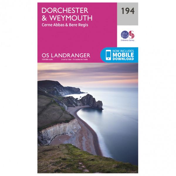 Ordnance Survey - Dorchester / Weymouth - Vaelluskartat