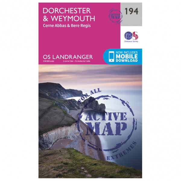 Ordnance Survey - Dorchester / Weymouth Waterproof - Hiking map