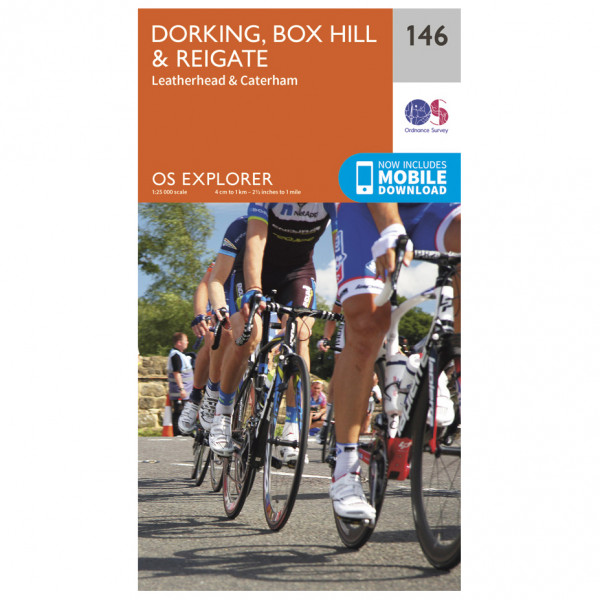Ordnance Survey - Dorking / Box Hill / Reigate - Vandringskartor