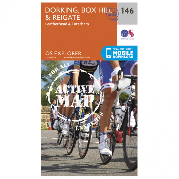 Ordnance Survey - Dorking / Box Hill / Reigate Waterproof - Hiking map