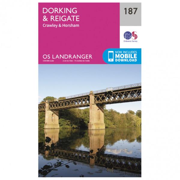 Ordnance Survey - Dorking / Reigate - Vaelluskartat