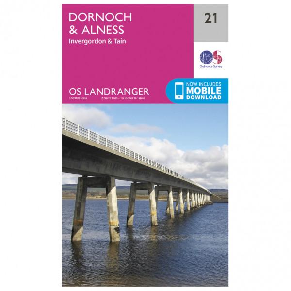 Ordnance Survey - Dornoch / Alness - Mapa de senderos