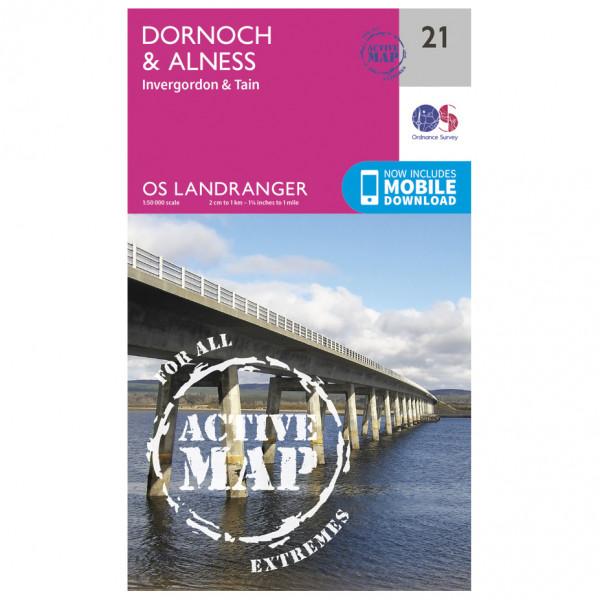 Ordnance Survey - Dornoch / Alness Waterproof - Hiking map