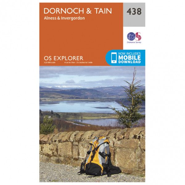 Ordnance Survey - Dornoch / Tain EXP438 - Wanderkarte