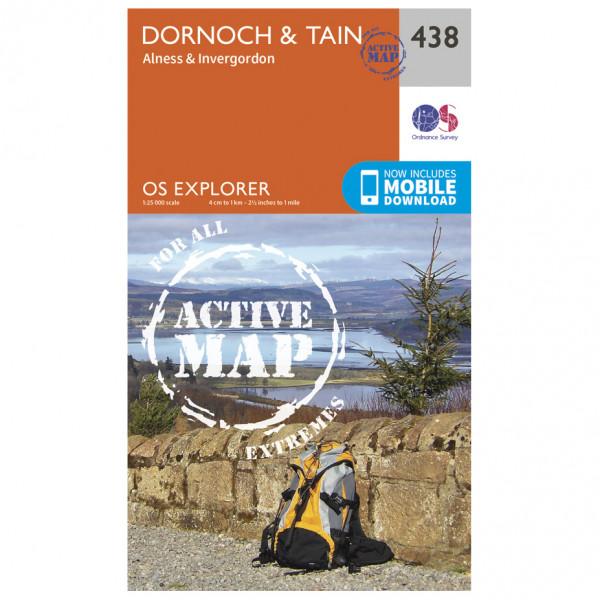 Ordnance Survey - Dornoch / Tain Active Waterproof EXPL438 - Wanderkarte