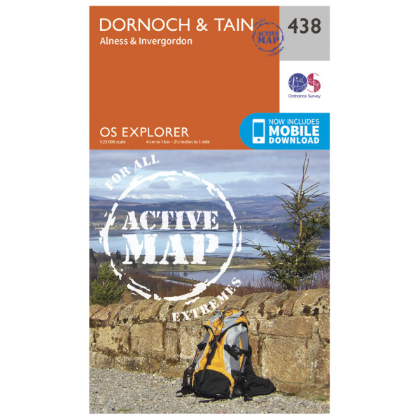 Ordnance Survey - Dornoch / Tain Active Waterproof - Hiking map