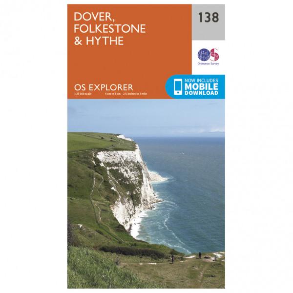 Ordnance Survey - Dover / Folkstone / Hythe - Vandrekort