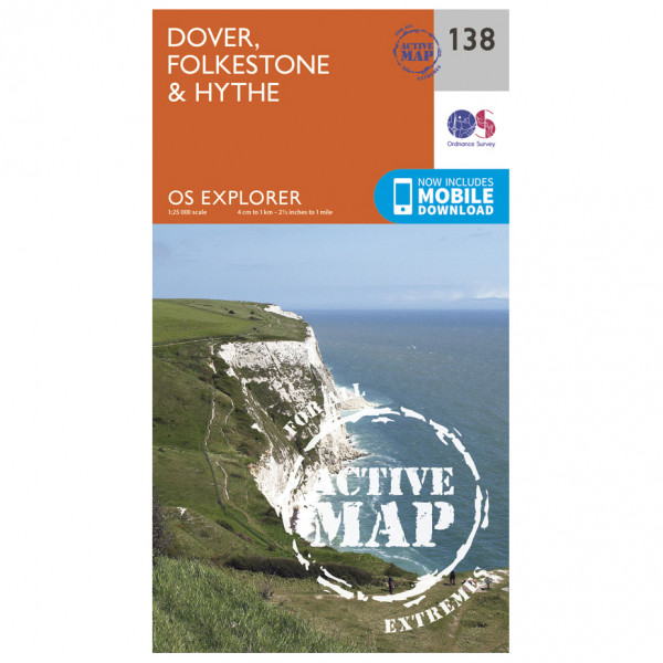 Ordnance Survey - Dover / Folkstone / Hythe Waterproof - Hiking map