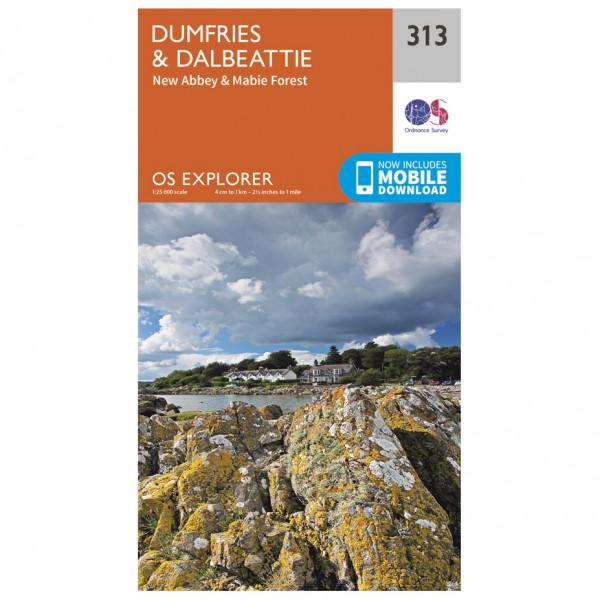 Ordnance Survey - Dumfries / Dalbeattie - Carte de randonnée