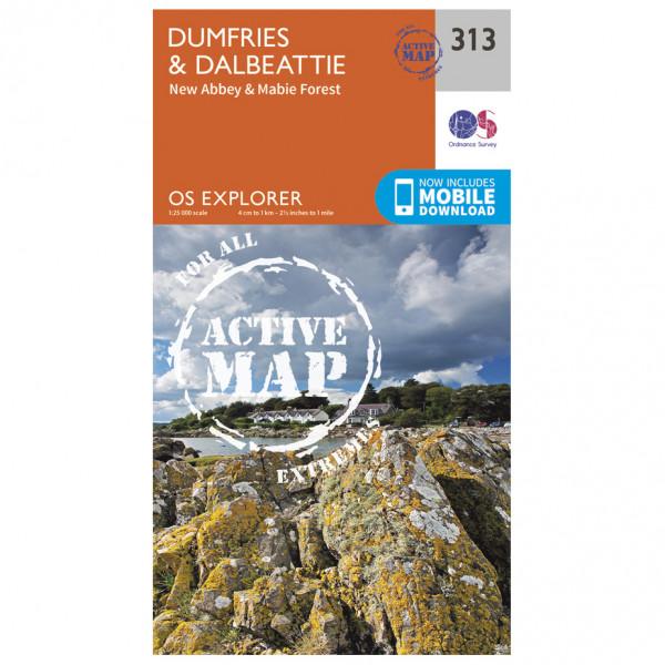 Ordnance Survey - Dumfries / Dalbeattie Waterproof - Vandrekort