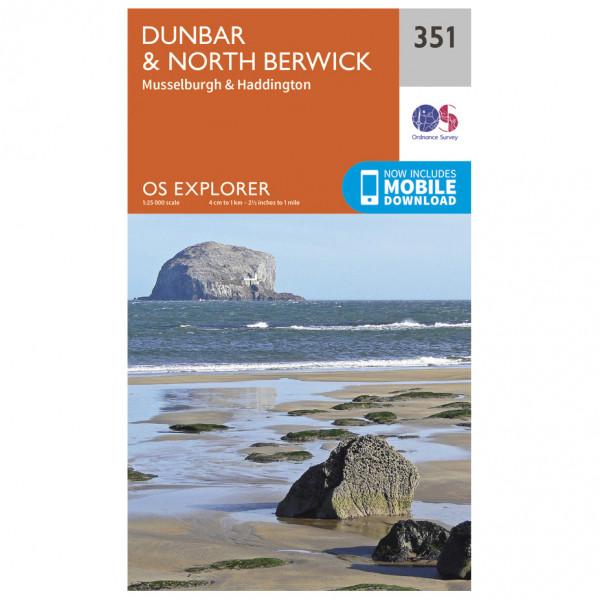 Ordnance Survey - Dunbar / North Berwick - Hiking map