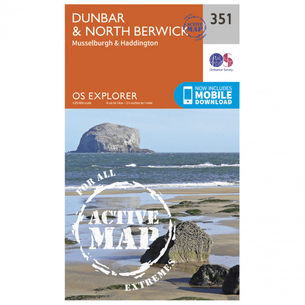 Ordnance Survey - Dunbar / North Berwick Waterproof - Hiking map