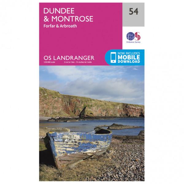 Ordnance Survey - Dundee / Montrose - Vandrekort
