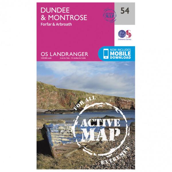 Ordnance Survey - Dundee / Montrose Waterproof - Hiking map