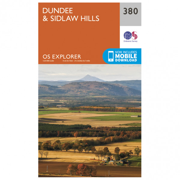 Ordnance Survey - Dundee / Sidlaw Hills - Mapa de senderos