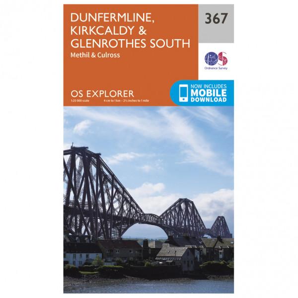Ordnance Survey - Dunfermline / Kirkcaldy / Glenrothes South - Vaelluskartat