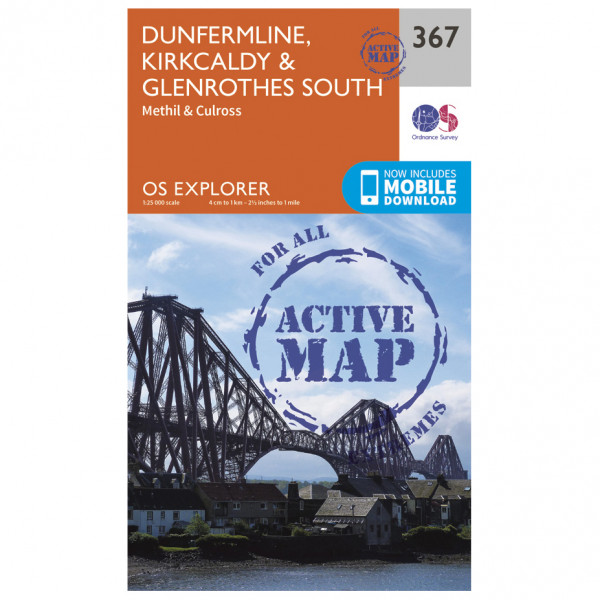 Ordnance Survey - Dunfermline / Kirkcaldy / Glenrothes South Waterproof EXPL367 - Wanderkarte