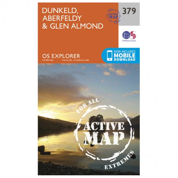 Ordnance Survey - Dunkeld / Aberfeldy / Glen Almond Waterproof - Vandringskartor