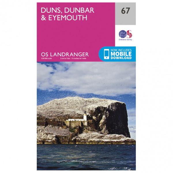 Duns / Dunbar / Eyemouth - Hiking map