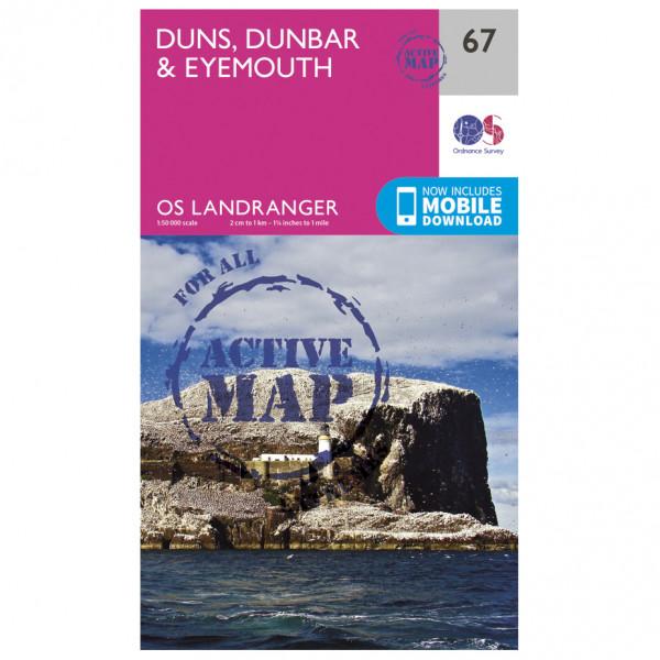 Ordnance Survey - Duns / Dunbar / Eyemouth Waterproof - Turkart