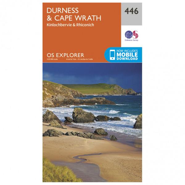 Ordnance Survey - Durness / Cape Wrath EXP446 - Wanderkarte