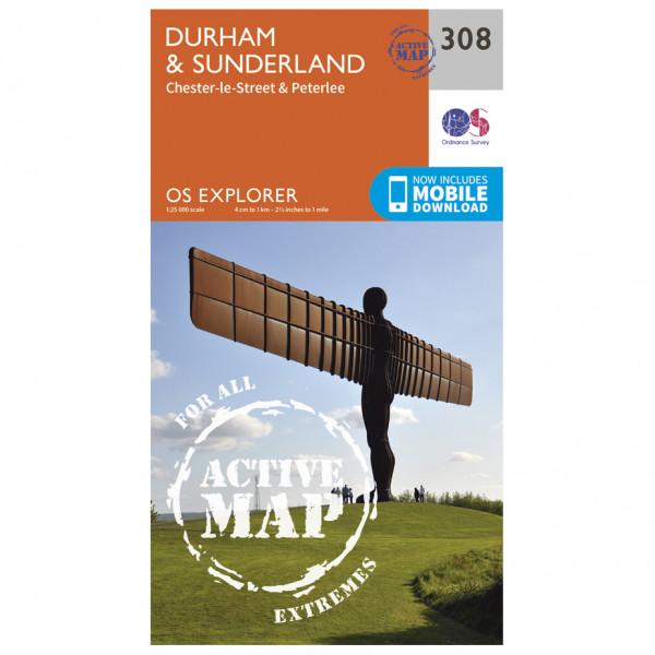 Ordnance Survey - Durnham / Sunderland Waterproof - Vandrekort