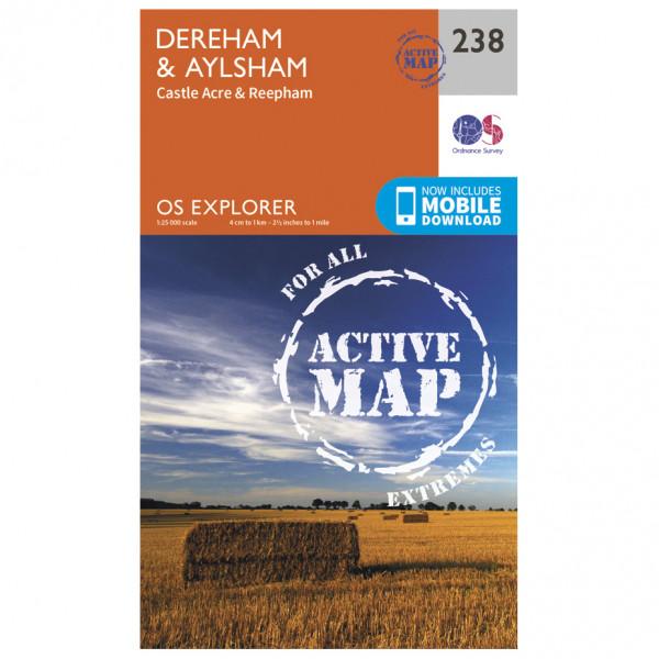 Ordnance Survey - East Dereham / Aylsham Waterproof - Hiking map