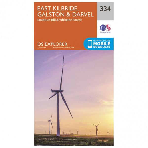 Ordnance Survey - East Kilbride / Galston / Darvel - Vandrekort