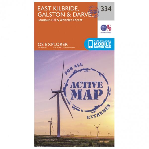 Ordnance Survey - East Kilbride / Galston / Darvel Waterproof - Vaelluskartat